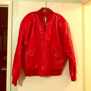 Jackets & Blazers - Vintage Red Leather Jacket